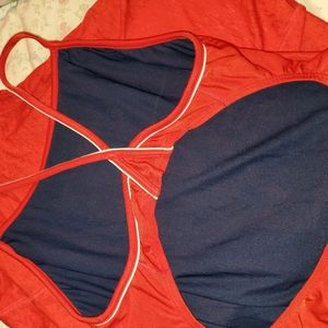 Size 14 Red Bathing Suit  / Guard
